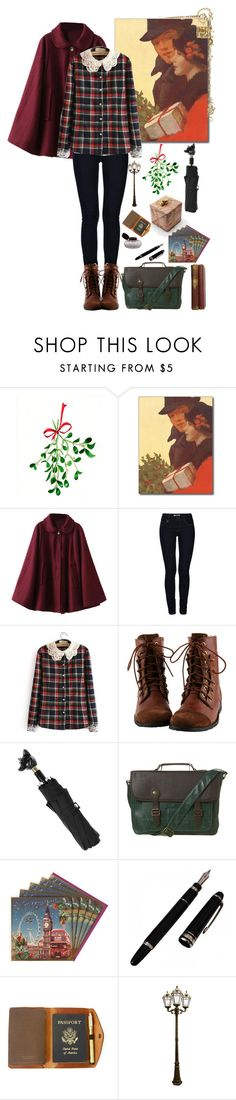 """""""Merry Christmas to all and to all a good night! And, God bless us every one!"""" by a-romantic-at-oxford ❤ liked on Polyvore featuring ONLY, Flower Idea, Burberry, Topman, Red Clouds Collective and Gama Sonic"""
