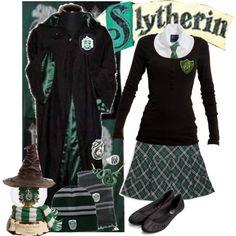 """""""Hogwarts Slytherin Uniform"""" by armychef09 on Polyvore"""
