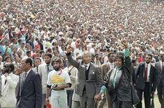 Wednesday Message. Nelson Mandela, Black Power Salute, End Of Apartheid, Winnie Mandela, Soccer City, African National Congress, Roman, First Black President, Black Presidents