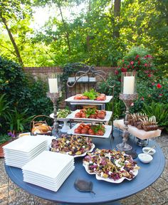 Lon Lane's divine catering for an event at Evening Place Gardens