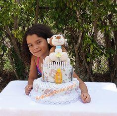 So Cute Monkey Diaper Cake Monkey Diaper Cakes, Diaper Cake Boy, Cute Monkey, Unique Jewelry, Handmade Gifts, Baby Boy, Birthday Cake, Desserts, Etsy