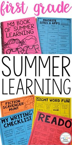 1st Grade summer homework. Help families tackle the summer slide with these worksheets, and checklists for students to complete. Story problems, sight words, writing, reading comprehension, and more are included for student review over the summer. Also included are checklists with engaging, low prep activities for students to complete all summer.