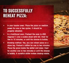 The Best Way To Reheat Pizza At Home | Comfort Food ...