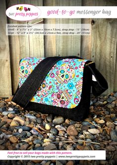 Looking for your next project? You're going to love Good-To-Go Messenger Bag by designer Lisa Ratford.