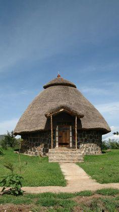 Ethiopia, beautiful hotel, Arba Minch Unique Hotels, Beautiful Hotels, Beautiful Places, African Hut, Form Architecture, National Park Lodges, Hut House, Art Timeline, Mushroom House
