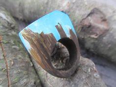 Secret wood ring Resin rings Wood ring forest ring Magic ring Resin jewelry wooden jewelry Wood resin Ring resin Unique ring 10 by FlowerJewerly on Etsy