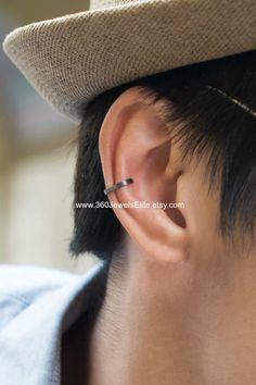 Conch ear cuff busted wire hoop men's ear cuff by 360JewelsElite