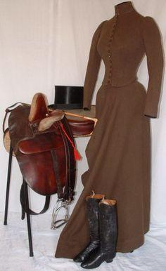 Side Saddle: The Brown 1880's Habit