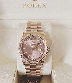 Dusty rose and gold Rolex for women