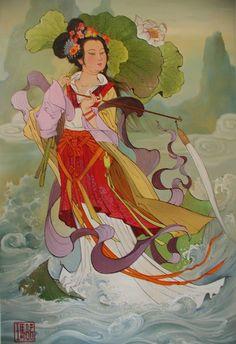 Immortal 坤 Kun: 何仙姑 He Xiangu
