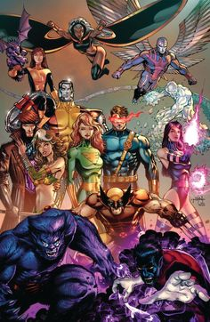 X-men by Jason Metcalf Marvel E Dc, Marvel Comic Universe, Disney Marvel, Marvel Heroes, Marvel Avengers, Arte Dc Comics, Marvel Comics Art, Comic Books Art, Comic Art