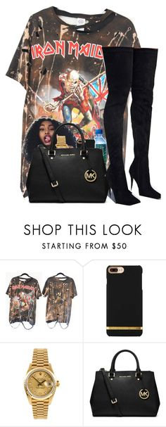 """Untitled #204"" by trillest-qveen247 on Polyvore featuring Rolex and MICHAEL Michael Kors"