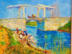 Vincent van Gogh — The Langlois Bridge at Arles with Women Washing, Painting: Oil on canvas, 54 x 65 cm. 1888 Landscape Van Gogh Oil on. Vincent Van Gogh, Art Van, Painting Prints, Painting & Drawing, Art Prints, Canvas Prints, Van Gogh Museum, Van Gogh Arte, Canvas Frame