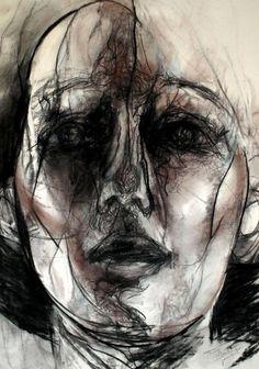 Portrait au fusain de Tony Masschelein