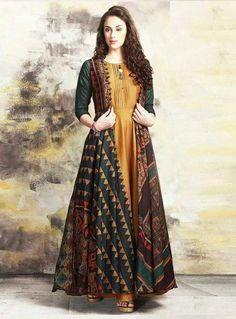 427 Yellow Color Printed Pure Maslin Cotton Fabric Festive Formal Wear Stylish Designer Wear Occasionally Fashion Gown Style Long Kurti Wholesale Supplier from Surat in Best Price @ INR Indian Designer Outfits, Designer Gowns, Indian Outfits, Indian Gowns Dresses, Pakistani Dresses, Printed Gowns, Kurta Designs Women, Kurti Designs Party Wear, Dress Indian Style