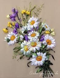 Resultado de imagen para como enmarcar flores bordadas stilo vintage