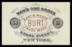 Burt & Mears typography and filigree, hand-drawn style of some lettering