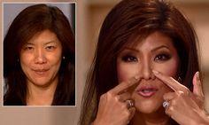'I have never had a nose job,' insists Julie Chen