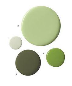 C.B.I.D. HOME DECOR and DESIGN: EXPLORING WALL COLOR: SERENE GREEN. I love #2. Valspar Lovely Green.