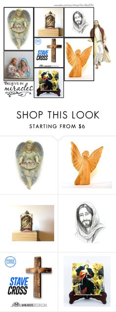 Religious Art on Etsy by TerryTiles2014 - Volume 41 by terrytiles2014 on Polyvore featuring interior, interiors, interior design, Casa, home decor and interior decorating
