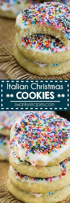 most delicious Italian Sugar Cookies. Quick and easy 10 ingredient Christmas Cookies. Our family loves how easy they are to make. They taste like bakery style sugar cookies but better. Christmas Cookies I Sugar Cookies I Italian Cookies I Holiday Cookies New Year's Desserts, Holiday Baking, Christmas Desserts, Christmas Baking, Christmas Recipes, Easy Holiday Cookies, Italian Christmas Cookies, Xmas Cookies, Gingerbread Cookies