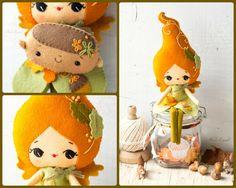 PDF. Autunno fata bambola. Plush Doll Pattern modello di Noialand