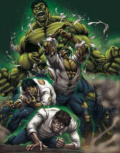 Bruce Banner/The Hulk (by David-Ocampo Marvel Comics Art, Hulk Marvel, Marvel Heroes, Avengers, Hulk Hulk, Marvel Comic Character, Marvel Characters, Hulk Comic, Comic Art
