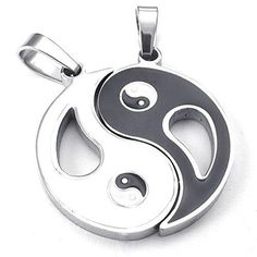 """17/"""" /& 23/"""" 925 Sterling Silver YING YIN YANG LOVE TAO HIPPY PENDANT NECKLACE"""