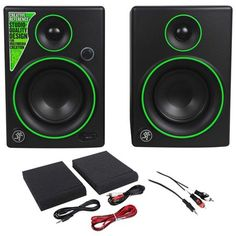Pair New Mackie Creative Reference Monitors Speakers+Free AUX Cable Monitor Speakers, Monitor Stand, Box Studio, Drum Pad, Instruments, New Nikon, M Audio, Mini Keyboard, Fiber Optic Cable