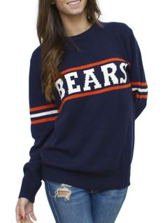NFL Chicago Bears Unisex Throwback Intarsia Sweater