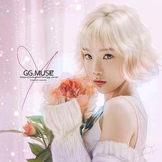 Flowers for... #taeyeon #태연 #テヨン #金太妍 #TTS #soshiart #소녀시대 #少女時代 #GG #SNSD #girlsgeneration  #LOVE #PEACE #COOL #ART #FANART #gg_muse #SONE @taeyeon_ss