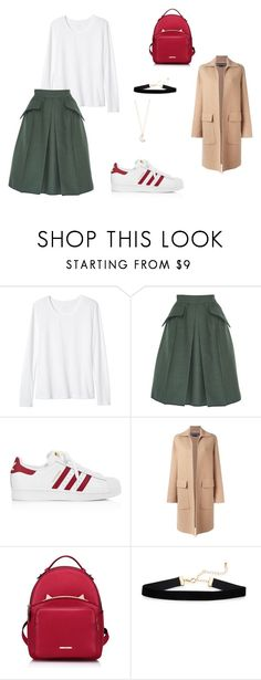 """""""Unbenannt #31"""" by farah-muminovic ❤ liked on Polyvore featuring Banana Republic, Edeline Lee, adidas, Rochas, WithChic and Full Tilt"""
