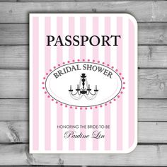 customized bridal shower invitations paris parisian themed passport chandelier passport invitations custom