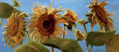 As the cold sets in, I love to be reminded of summer. I love this painting by Beth Ellis of sunflowers from an orchard in my town.