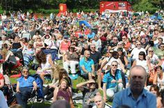Crowds in Bents Park on 20 July 2014 as part of the FREE Summer Festival.