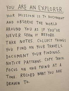 Be an Explorer