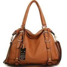 Leather Handbag Shoulder Women Bag Brown Black Hobo Tote Purse