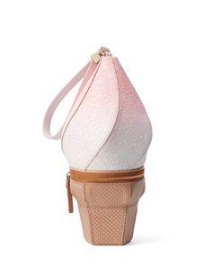 Kate Spade - flavor of the month ice cream wristlet Unique Handbags, Unique Purses, Pink Handbags, Kate Spade Handbags, Unique Bags, Cute Purses, Purses And Handbags, Kate Spade Clutch, Creative Bag
