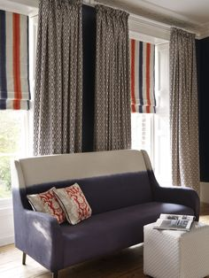 @clarkeandclarke Brenna fabric from the Traviata range - available from Rodgers of York #fabric #curtains #interiors