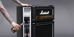 Marshall Fridge - http://www.crackformen.com/marshall-fridge-399 - #GuitarAmp, #Mancave, #Minifridge
