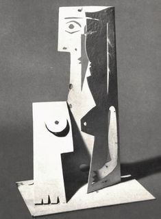 """Small-scale model of Picasso's """"Bust of a Woman Book Sculpture, Pottery Sculpture, Paper Sculptures, Drawing Projects, Art Projects, Pablo Picasso Sculptures, Folded Book Art, Book Folding, Picasso And Braque"""