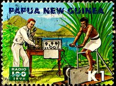 Papua New Guinea. RADIO CENTENARY.  1st TRANSMISSION IN PNG. Scott 905 A206.  Issued 1996 Sept 11, K1./ldb.