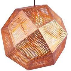 Lampada A Sospensione Etch Shade Rame by Tom Dixon Copper Pendant Lights, Globe Pendant, Ceiling Pendant, Pendant Lamp, Pendant Lighting, Chandelier, Light Pendant, Ceiling Lights, Tom Dixon