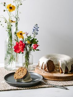 Gluten Free Carrot Coconut Bundt Cake - The Effortless Chic #glutenfree #springrecipes #easter