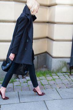 love the heels - VHeel Pump - Oxblood   Emerson Fry