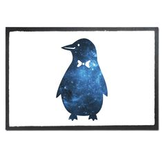 Fußmatte Druck Pinguin aus Velour  Schwarz - Das Original von Mr. & Mrs. Panda.  Die wunderschönen Fussmatten von Mr. & Mrs. Panda sind etwas ganz besonderes. Alle Motive werden von uns entworfen und jede Fussmatte wird von uns in unserer Manufaktur selbst bedruckt und liebevoll an euch verschickt. Die Grösse der Fussmatte beträgt 60cm x 40cm.    Über unser Motiv Pinguin  Pinguine, die süßen Tiere im schicken Wrack, gehören zu den Seevögeln, obwohl sie nicht fliegen können. Kaiserpinguine…