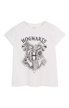 Primark - White Harry Potter Crest T-Shirt
