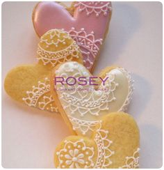 Valentines cookies- the prettiest piping and sugar work