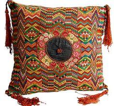 Guatemalan Tzute Textile Floor Pillow