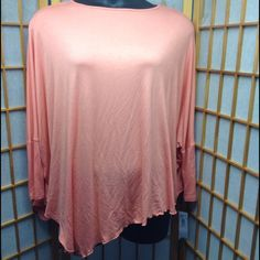 Poncho Shirt Brand new never worn. Asymmetrical hem. Great for spring. Passports Tops Tees - Long Sleeve